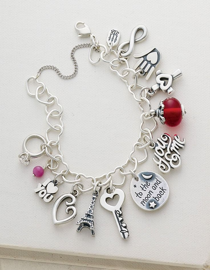 James Avery Charms shown on a Connected Hearts Charm Bracelet #JamesAvery