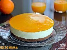 Tarta mousse de naranja cremosa