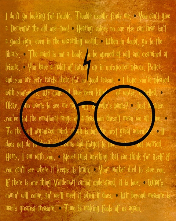 Harry Potter Quotes Wallpaper: Wizarding World BEST OF Quotes Modern Print Poster