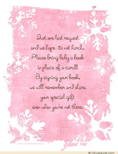 Pink Snow Baby Shower Dinner Invitation