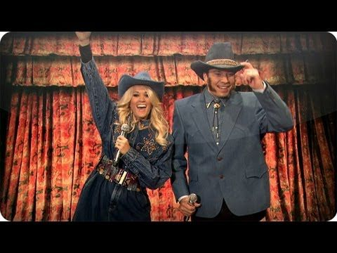 Jimmy Fallon & Carrie Underwood Perform Country Versions of Rap Songs (Late Night with Jimmy Fallon)