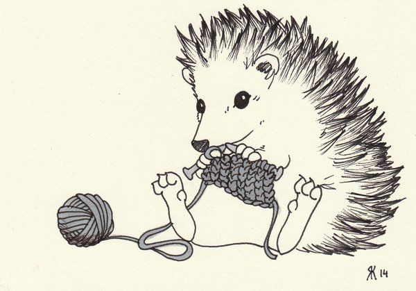 DeviantArt: More Like Knitting hedgehog by pauli-johannes