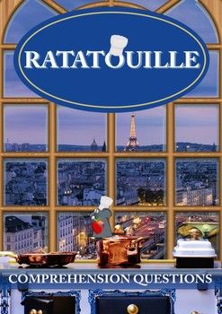 "This 6 page movie guide accompanies the movie ""Ratatouille""     Part 1 – This section is comprised of 30 comprehension questions in chronological order on 2 pages. An answer key is included.    Part 2 – This has 3 tasks. (Can also be done as a group)    • The first one is designing the floor plan for Linguini's new restaurant.     • The second one is creating a special recipe for Linguini's new restaurant.     • The third one is writing an article about Linguini's new restaurant."