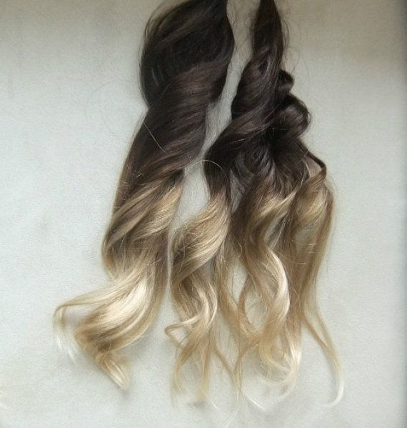 "Ombre Remy Fusion I Tip Stick Tip 100% Human Hair Extensions 18"" 50 grams on Etsy, $89.99"