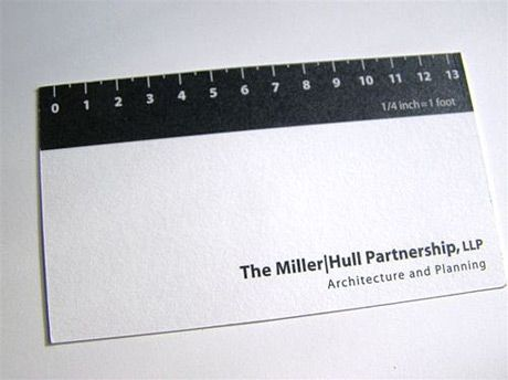 Another done for an architect that features a ruler. Don't expect a Hundertwasser style building from this guy!