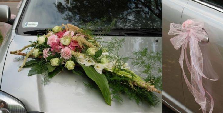 Korso na samochod - kompozycja kwiatowa na pojazd Panny Mlodej: www.kaja.lebork.pl   #wesele #dekoracjeslubne #weddignflowers #cardecorations #romanticwedding