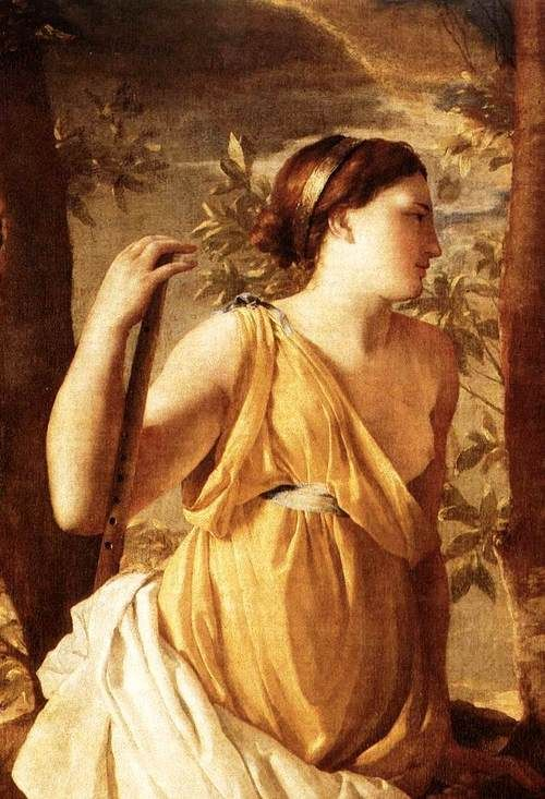 "The Inspiration of the Poet"" (detail) (c. 1630) by Nicolas Poussin (1594-1665)."
