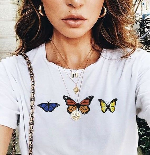 Pretty butterfly and floral Tshirt!
