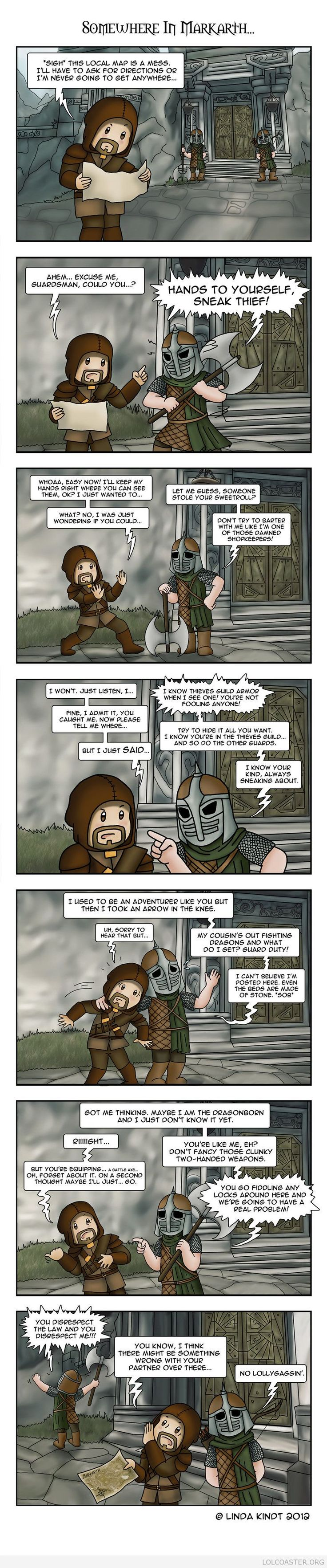 Meanwhile, in Markarth #gamer #gaming