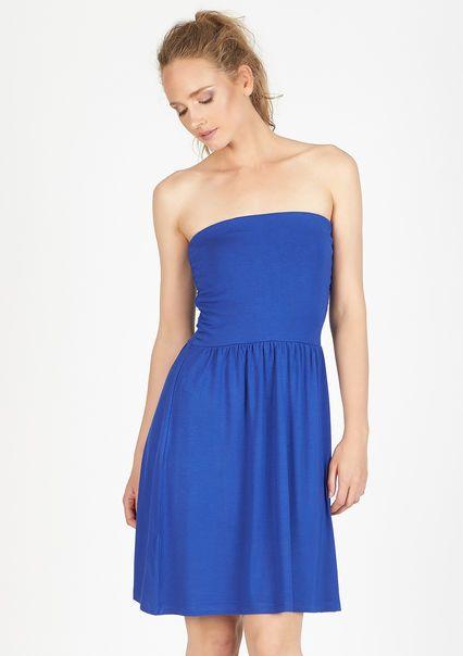 Effen bustier jurk,