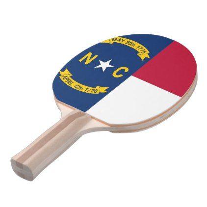Ping pong paddle with Flag of North Carolina USA - elegant gifts gift ideas custom presents