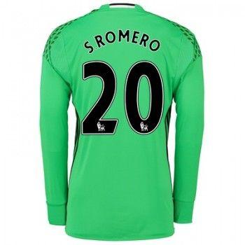 Manchester United 16-17 Målvakt Sergio Romero 20 Hemmatröja Långärmad  #Fotbollströjor