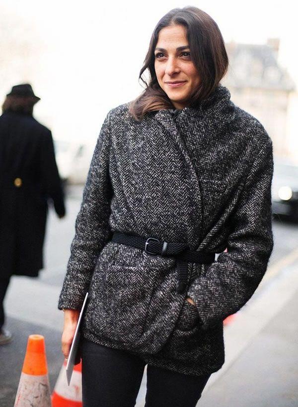 Look das francesas, casaco com cinto para marcar cintura capucine-safyurtlu