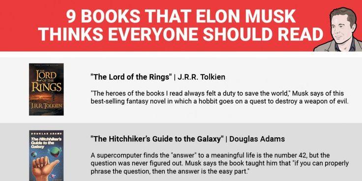 Elon Musk book recommendations - Business Insider