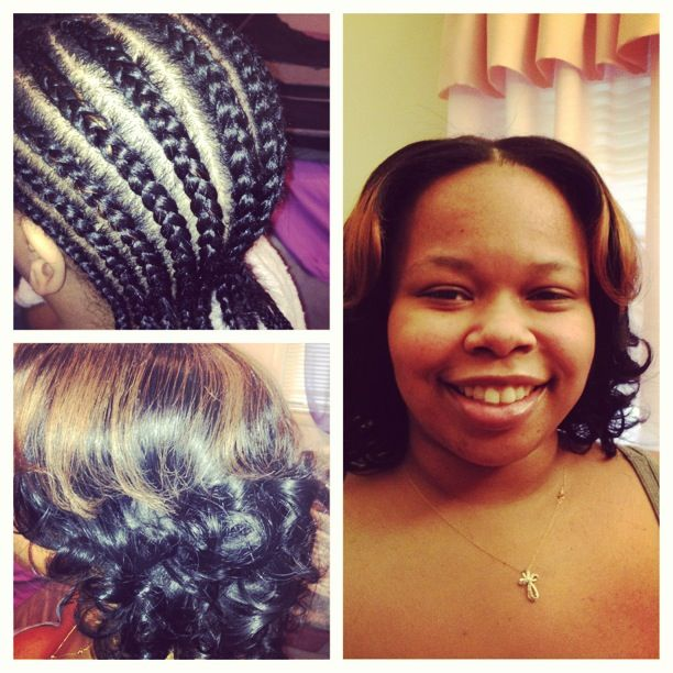 Sew in full weave with a strong and safe foundation of leroy style cornrows...