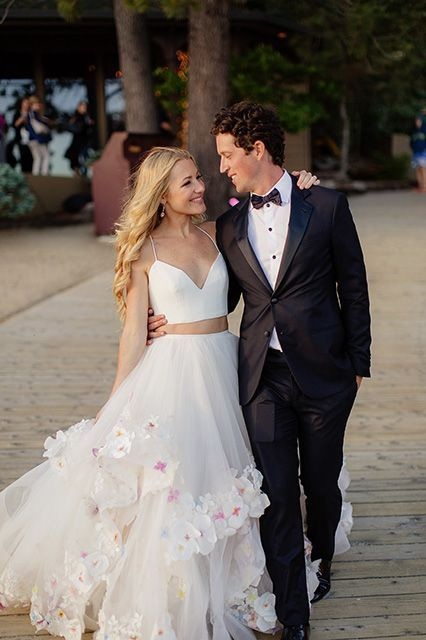Inside The Delightfully Over-The-Top Wedding Of Bridal Designer Hayley Paige #refinery29  http://www.refinery29.com/hayley-paige-wedding-photos#slide-9  The look of love. ...