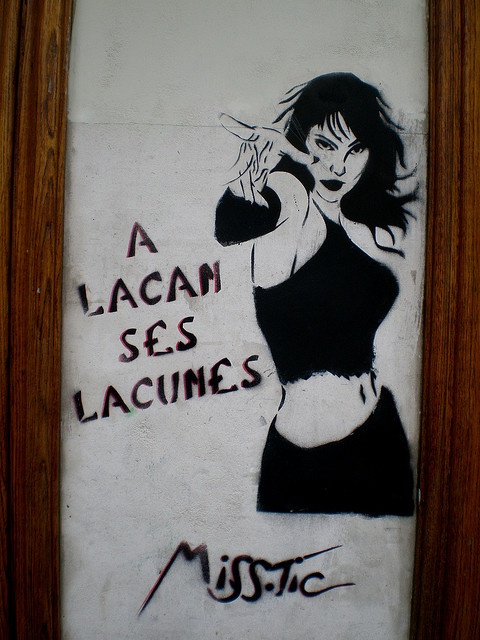 Miss.Tic A Lacan Ses Lacunes by Pantchoa, via Flickr