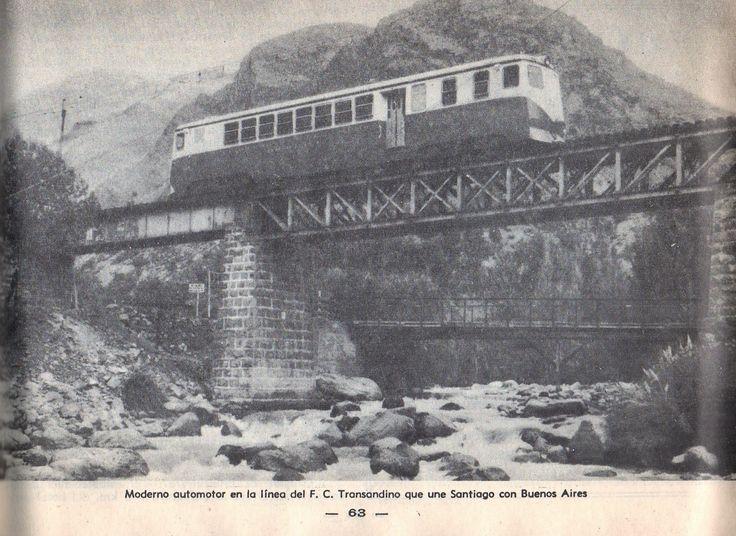 Guía del Veraneante 1958. (CHILE). Automotor Ferrocarril Transandino .