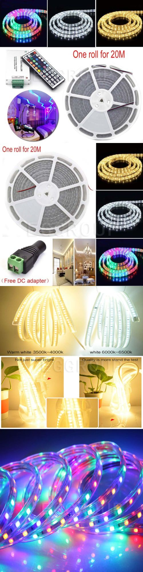 Lamps And Lighting: 20M 1200 Leds Smd-5050 Waterproof Led Strip Fairy Light Dc 24V +Remote Control -> BUY IT NOW ONLY: $62.69 on eBay!