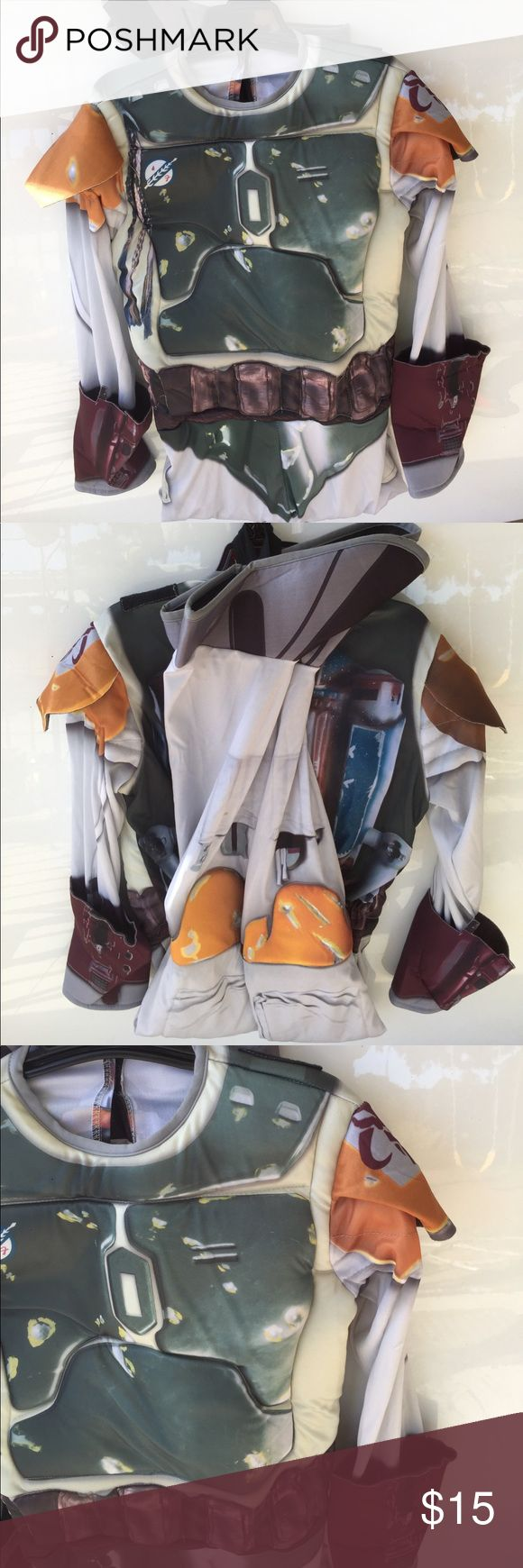 Boba Fett Star Wars Boys Halloween Costume Large Includes: 1x Muscle Jumpsuit (Missing Cape and Mask) Costume is new, never worn! Costumes Halloween