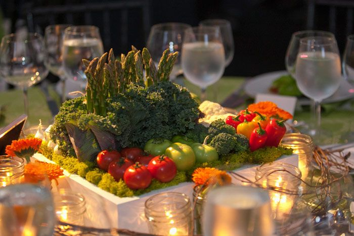 At the Peggy Notebaert Nature Museum's Butterfly Ball in Chicago in May, the gala had a farm-like atmosphere. Tables were decked with miniature gardens potted with tomatoes, colorful peppers, asparagus, and kale; around the centerpieces, fairy lights in miniature Mason jars added to the elegant yard-party vibe...