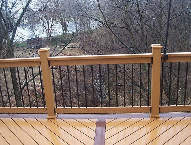 aluminum deck railing railings build balusters designs menards