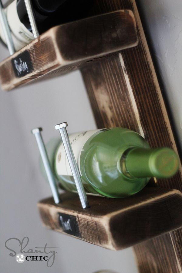 Diy Wine Rack Diy Pinterest