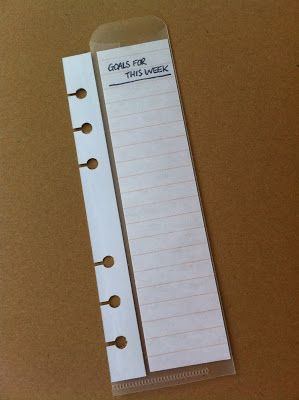 My Life All in One Place: Make a flexible today marker and note holder for your Filofax