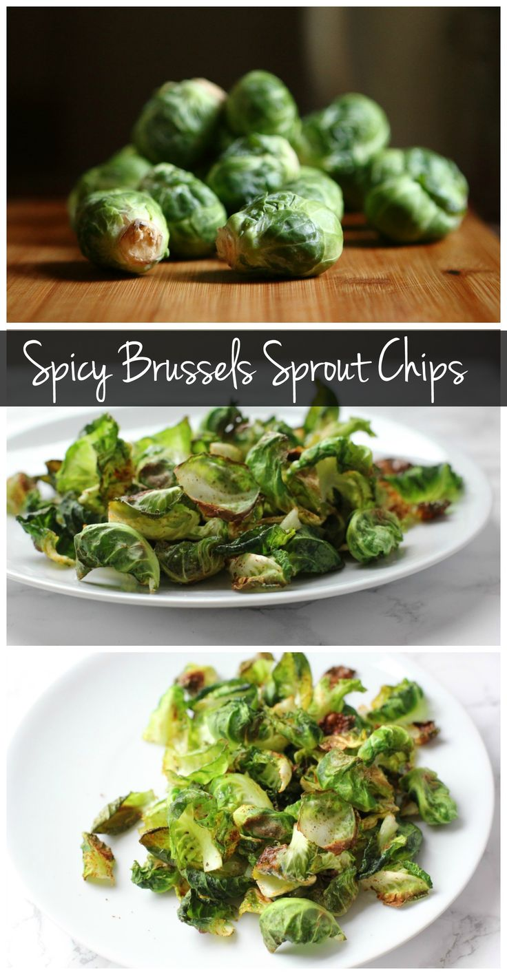 These spicy Brussels sprout chips are a perfect healthy snack! They're vegan, gluten free, and easy to make!