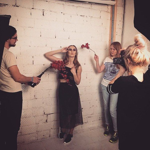 Yana Tsvetkova f/w 2015 shooting lookbook backstage