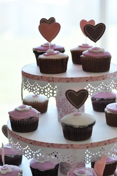 DIY cupcake stand (Bridal shower) :  wedding bridalshower cake cupcakes diy pink stand Stand1