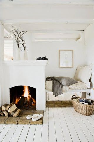 dream of having a fireplace in my bedroom!