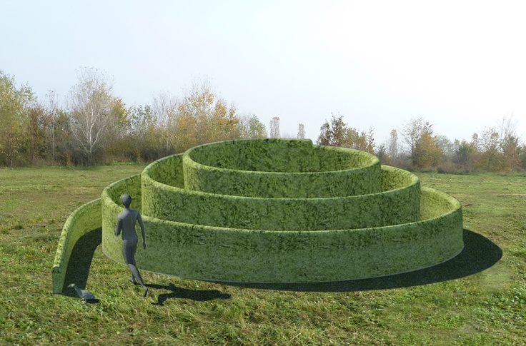 Spiral Project on site of DepurArt Lab Gallery - Waste Water Purification Plant -  Milano (IT) by Claudio Gasparini