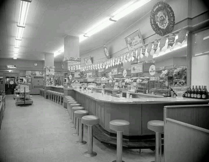 1949 Walgreens Restaurant Vintage Restaurant American Diner
