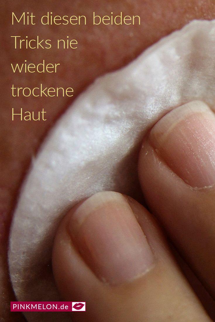 Mit diesen beiden Tricks nie wieder trockene Haut #hautpflege #beauty #poren #re…