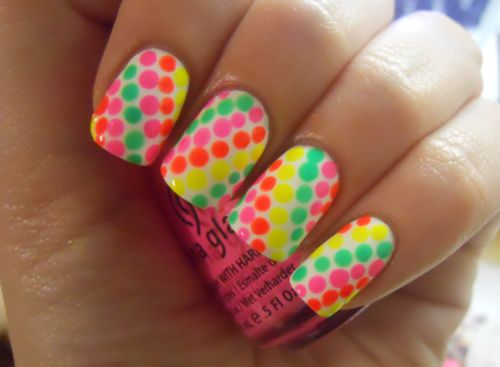 love it!: Nailart, Cute Nails, Nails Design, Polka Dots Nails, Summer Nails, Neon Colors, Neon Nails, Nails Art Design