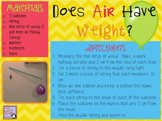 Does Air Have Weight?  {A Balloon Lab}