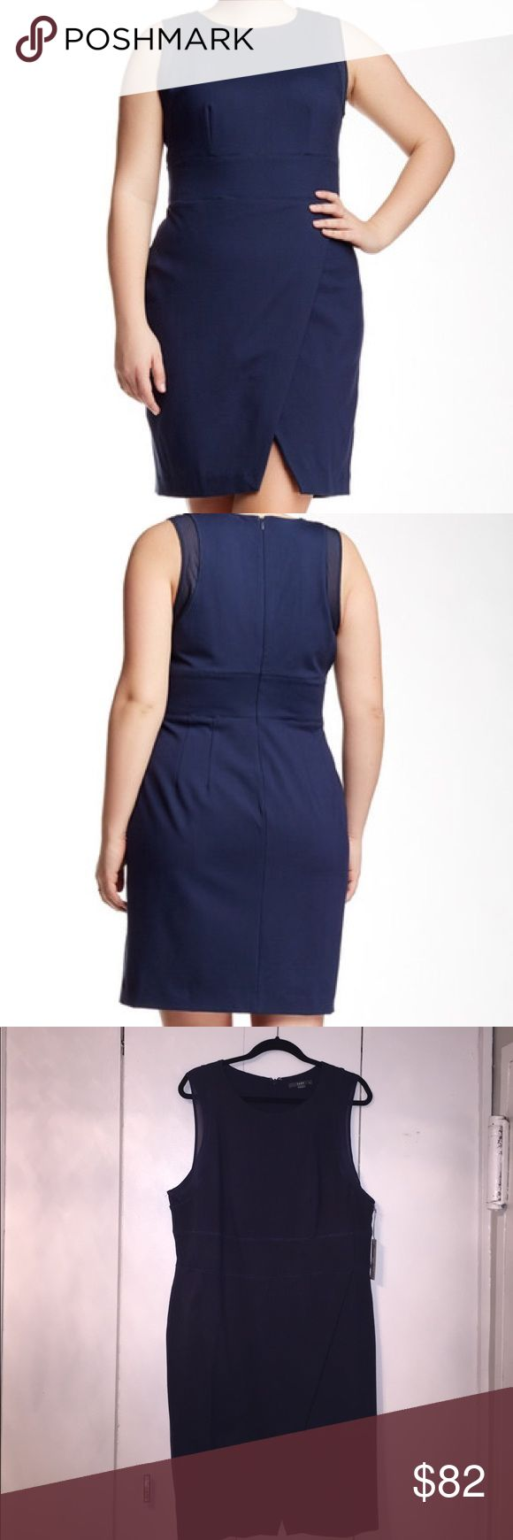 Tart navy blue jersey knit dress Tart Collections Navy blue jersey knit sleeveless dress. NWT. Never been worn. Brand new. Perfect condition. Great summer dress with nude shoes and/or coral or turquoise jewelry to brighten it up for summer. Tart Dresses Midi