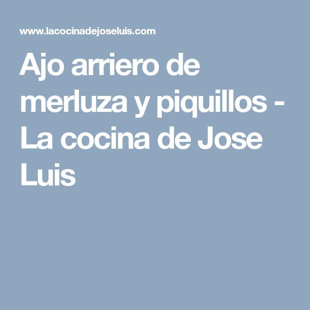Ajo arriero de merluza y piquillos - La cocina de Jose Luis