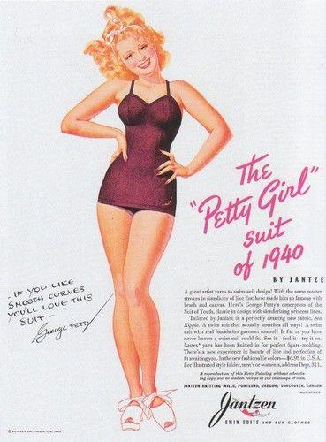 1940s swimsuit advertisement