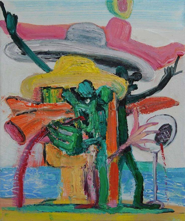 Rob McLeod  Davie Drops In, 2014 Oil on canvas 300 x 250 mm &nbsp…