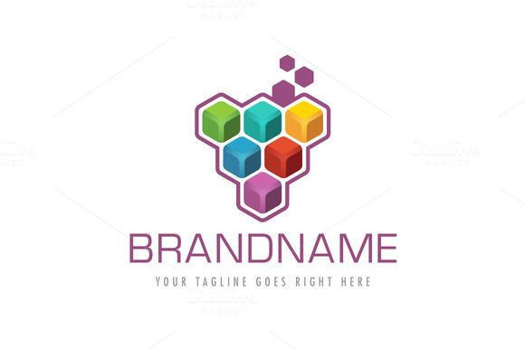 For sale. Only $29 - leaf, colorful, cube, abstract, triangle, grape, vine, hexagon, cluster, box, fruit, data, digital, plant, wine, vitamin, nutrition, media, polygon, geometric, spectrum, berry, eat, logo, design, template,