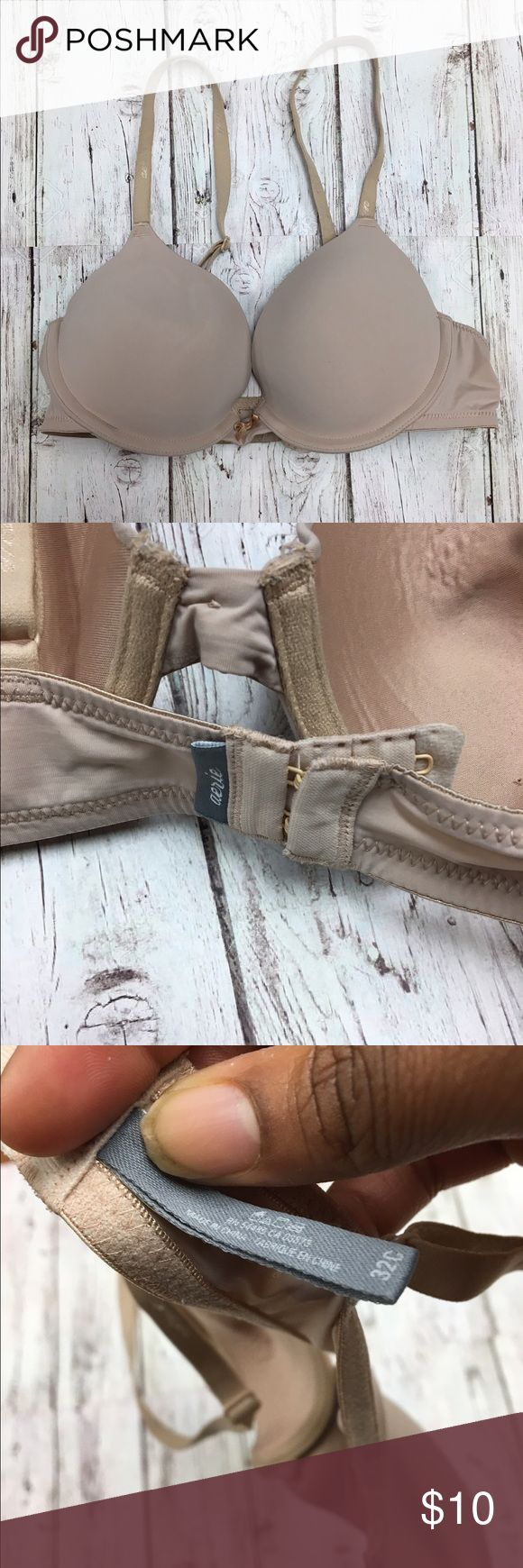 Aerie Bra 32C slight push up Has been worn about 3 times. This bra is in a great condition! You will receive Bra washed and ready to wear. Most Aerie bras is $30+ a bra in this style. This is an awesome deal to get a beautiful bra! aerie Intimates & Sleepwear Bras