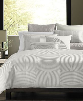 Macy's Hotel Collection Luminescent Bedding Collection (but in gray)