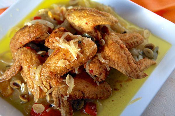 Fried Chicken Wings in Escabeche