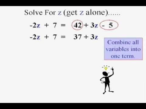 Beginning Algebra & Solving Algebraic Equations - YouTube