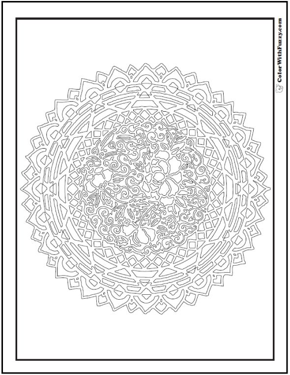 very detailed adult coloring pages - photo#10