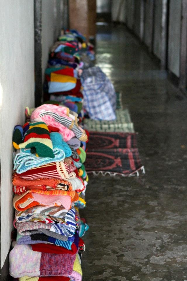 Blankets knitted and crocheted for the children of Soibada by the ladies of Pittwater.