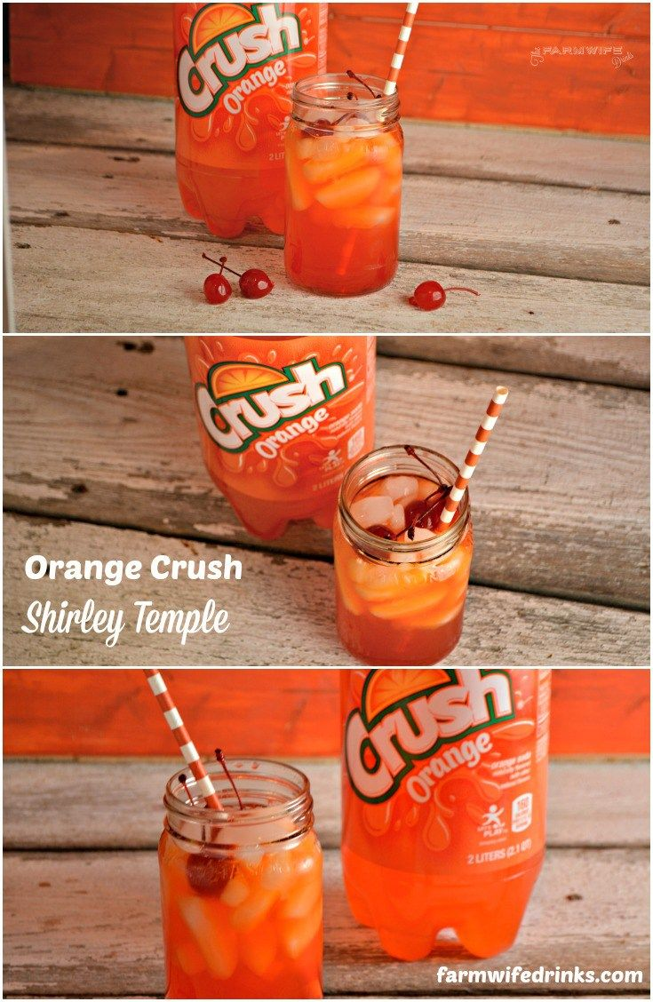 Orange Crush Shirley Temple is a great kid drink recipe much like the original Shirley Temple and sure to be a hit for any occasion or party.
