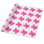 TEXAS STRONG PINK WHITE WRAPPING PAPER #Texas